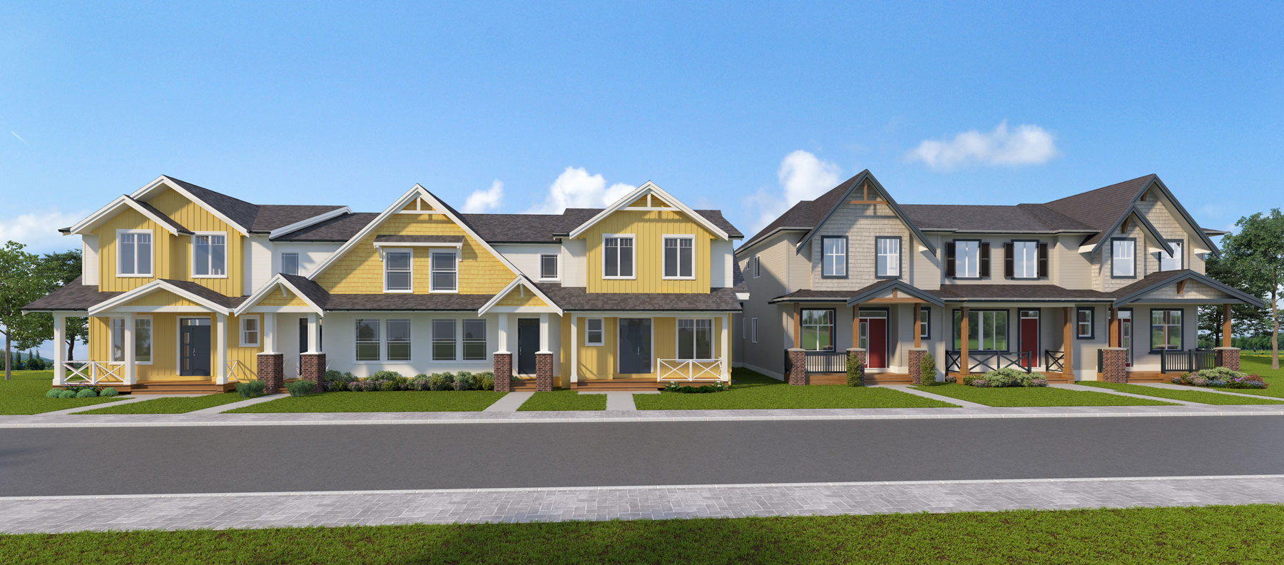 20525 76 Ave Rowhome Units Rendering
